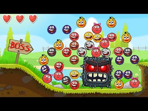 Million Squares In RED BALL 4 : Volume 5 INTO THE CAVE НОВЫЙ КРАСНЫЙ ШАРИК 4 мультик игра