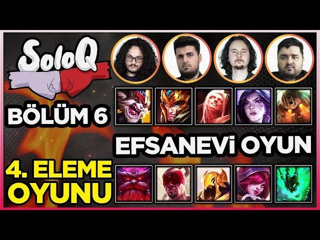 SoloQ Bölüm 6! Efsanevi Bir Oyun! | Bir League of Legends Yarışması