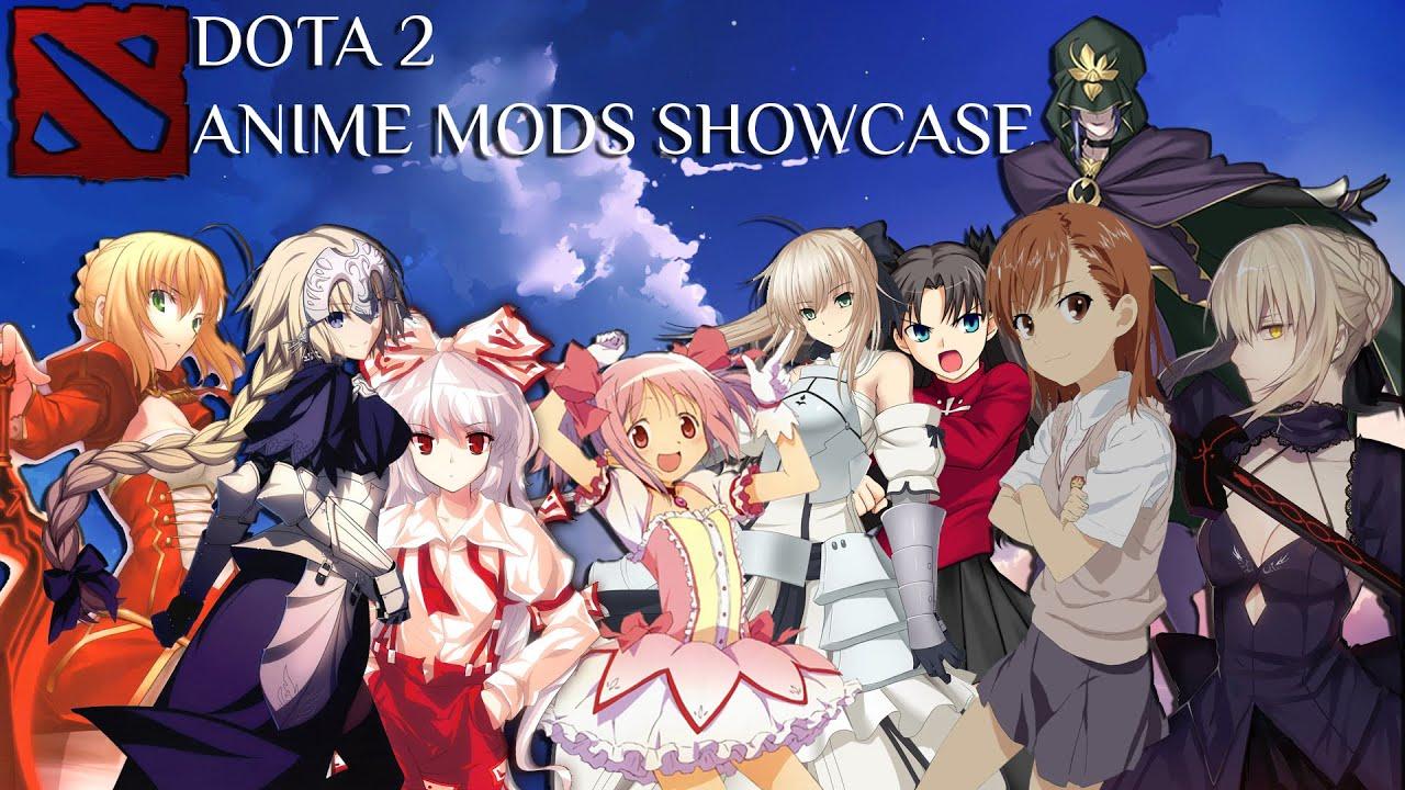 Dota 2 Anime Mods Showcase YouTube