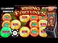 ⭐️Rising Fortunes Jin Ji Bao Xi ⭐️(2) HANDPAY JACKPOTS Nice Long Session WITH $66 SPINS Slot Machine