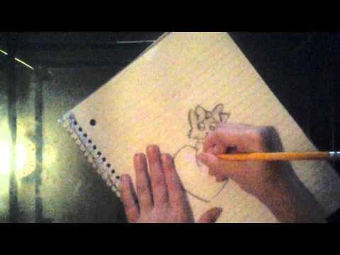 How to draw a kitty cat body on a heart