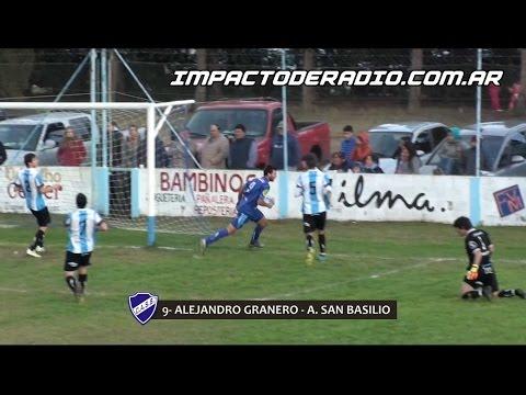 Gol de Granero. San Martín 0 - Atlético San Basilio 2. Fecha 12. Primera División A 2016