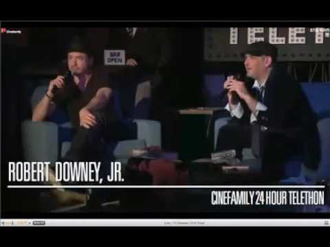 Robert Downey Jr. on the Telethon 2012 'The Cinefamily'. Part 3