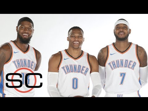 Thunder ready to debut with Paul George, Carmelo Anthony and Russell Wesbtook   SportsCenter   ESPN