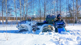 квадроцикл в снегу / много снега на квадроцикле / квадрик зимой/ stels leopard 2016 (by sjcam m10+)(Погоняли по пухляку ) снега много by sjcam ) 1080p 60 fps., 2017-02-05T18:35:35.000Z)