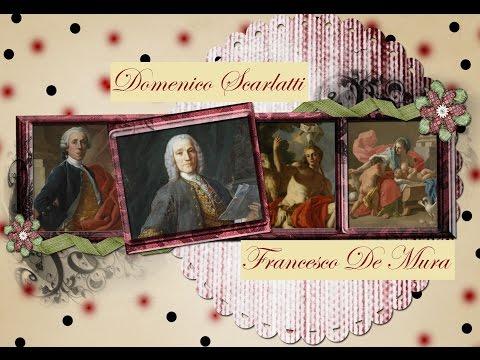 DOMENICO SCARLATTI - Sonatas - K 203-204-204b-205-206 - Paintings by Francesco De Mura