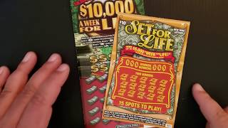 BIG ZEROS FINALLY $30 NY LOTTERY INSTANT WIN SCRATCH OFF TICKET SESSION. 10000 A WEEK & SET FOR LIFE
