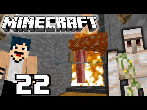IRON GOLEM FARM! Minecraft Survival Indonesia #22