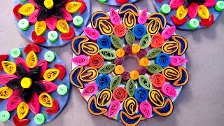 Paper Quilling Craft - How To Make Rangoli Design @ jaipurthepinkcity.com