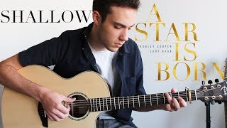 Shallow - Lady Gaga, Bradley Cooper (Fingerstyle Guitar Cover) A Star Is Born Video