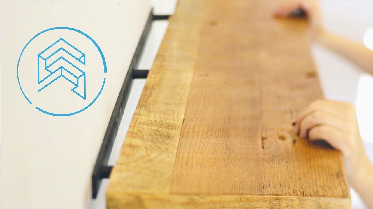 How to install floating shelves  Shelfology Tutorial