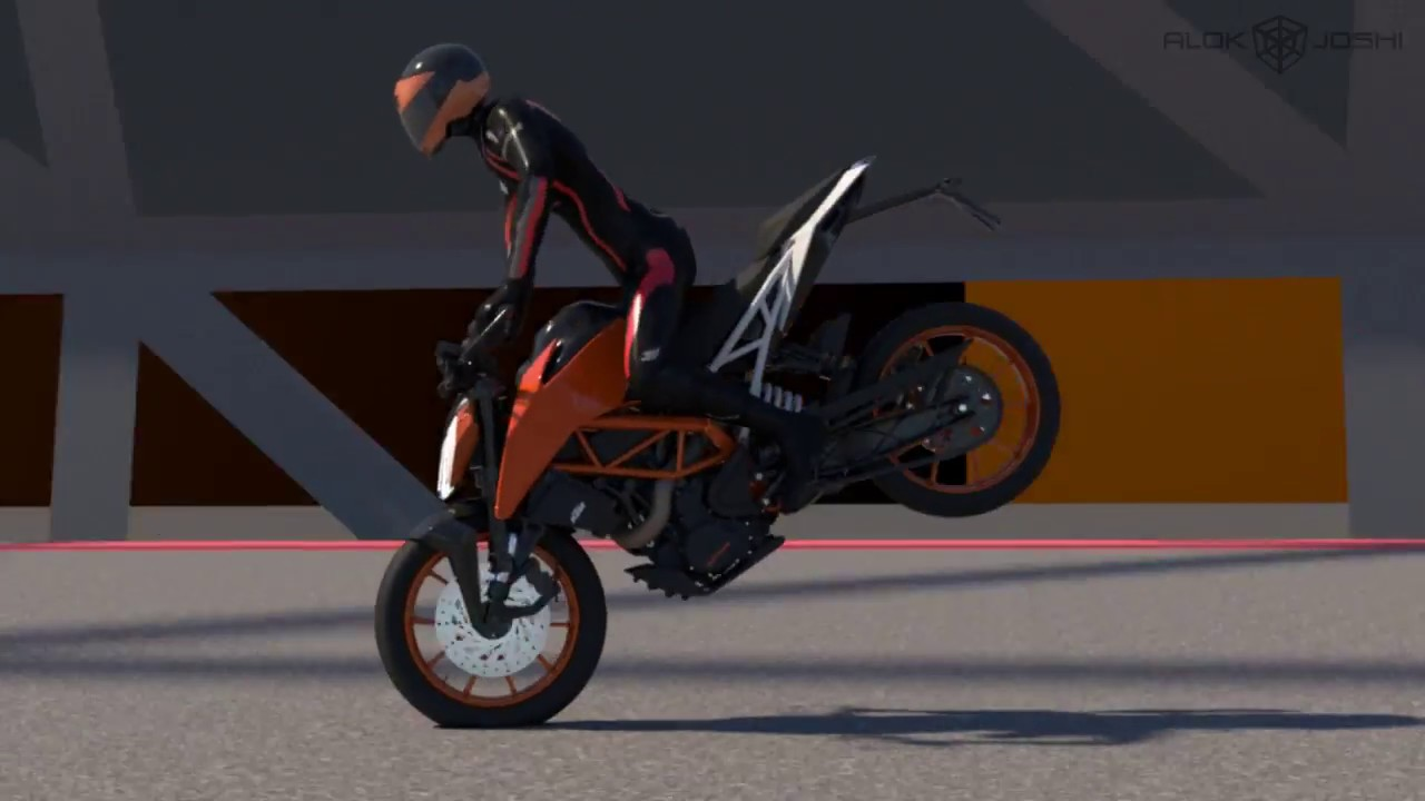 Ktm 390 Duke Animation Test Youtube