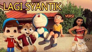Parodi Lagu Lagi Syantik versi Omar & Hana | Doraemon | Moana | Chipmunks Kompilasi