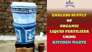How to get an endless supply of an organic liquid fertilizer using kitchen waste