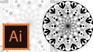 Tutorial Mandala -Illustrator //MANDALA ILLUSTRATOR//