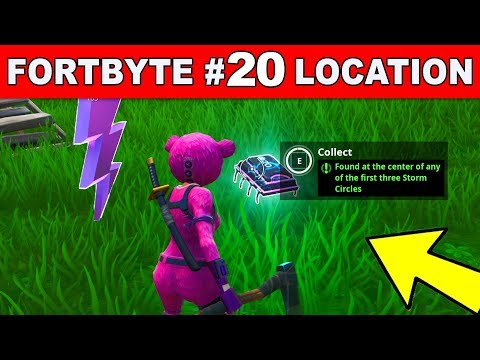 'Found at the center of any of the first three Storm Circles' - Fortnite Fortbyte #20 LOCATION GUIDE