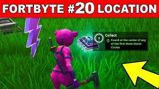 """""""Found at the center of any of the first three Storm Circles"""" - Fortnite Fortbyte #20 LOCATION GUIDE"""