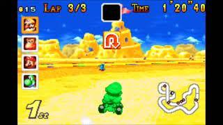 Guias de videojuegos Mario kart super circuit Mario GP flower cup 100cc Wario