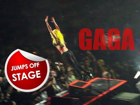 LADY GAGA STAGE DIVING COMPILATION Mp3