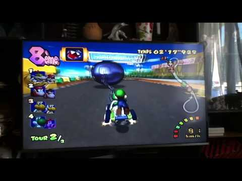 Mario Kart : Double Dash !! Luigi Use Chain Chomp