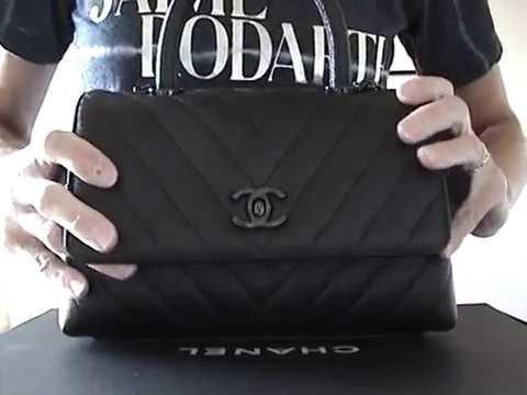 fcfc18eb18621e Chanel Mini So Black Coco Handle Review - YouTube