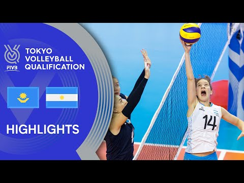 KAZAKHSTAN vs. ARGENTINA - Highlights Women | Volleyball Olympic Qualification 2019