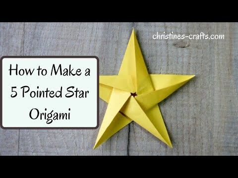 5 POINTED ORIGAMI STAR , HOW TO MAKE - Easy to Follow Tutorial in real time