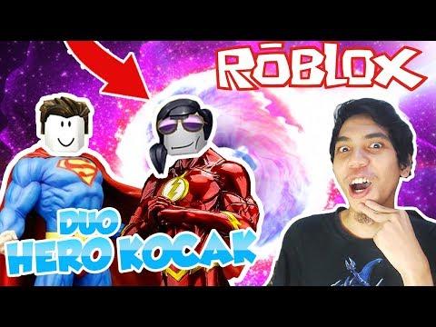 download DUO KOCAK JADI SUPER HERO DI ROBLOX MAD CITY #2