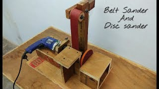 Making  A Belt Sander And Disc Sander || Make a Belt Sander Using Drill..