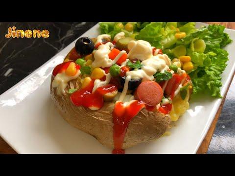 jinene-|-بطاطا-محشية-وصفة-تركية-كمبير-/-patates-farçies-kumpir-spécialité-turque-/-stuffed-potatoes