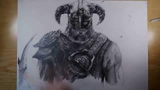 Drawing: Dovahkiin (Skyrim)