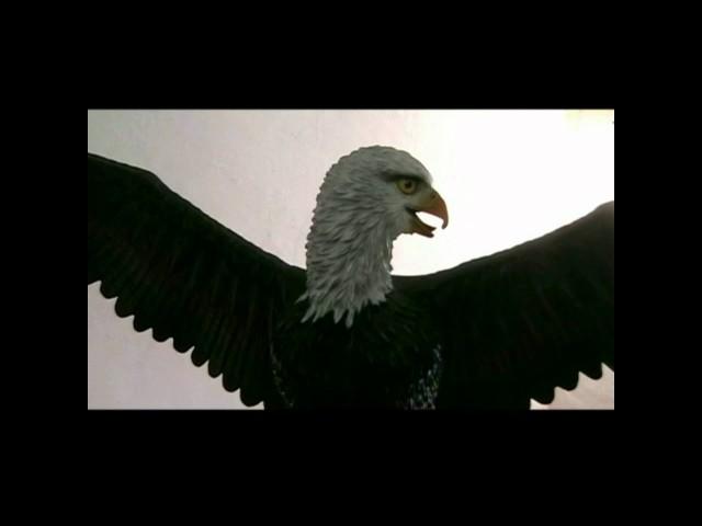 Airbrush - Malerei  an einer Adler  Skulptur - Anleitung