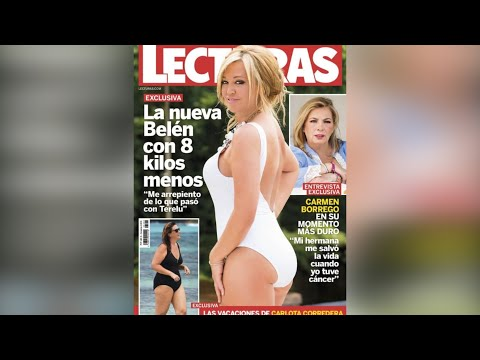 Critican el posado de Belén Esteban en bañador por abusar del retoque
