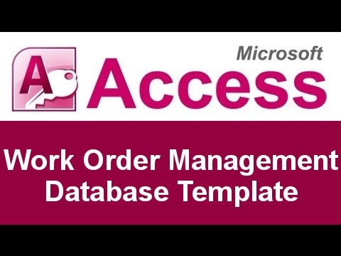 Microsoft Access Work Order Management Database Template  Microsoft Work Order Template