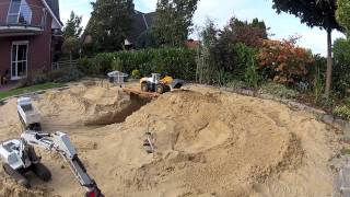 RC Excavator and Dump Truck Bridge Construction
