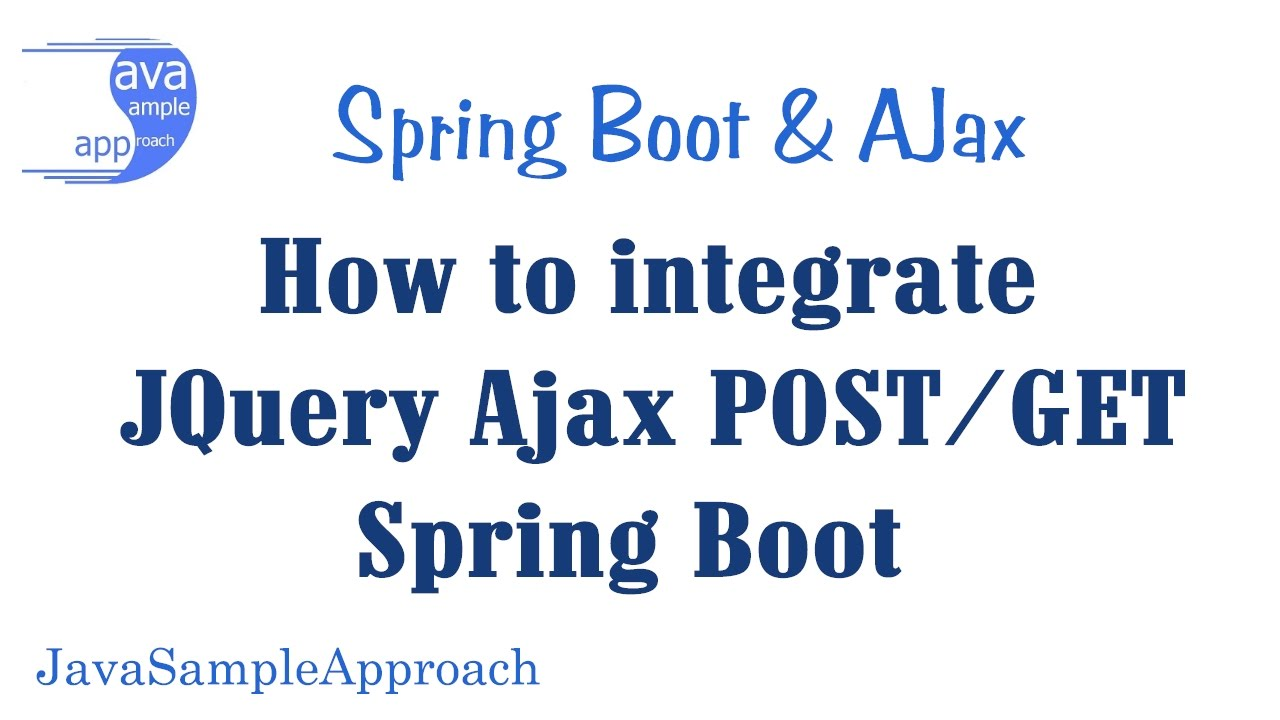 How to integrate JQuery Ajax POST/GET & Spring MVC | Spring Boot
