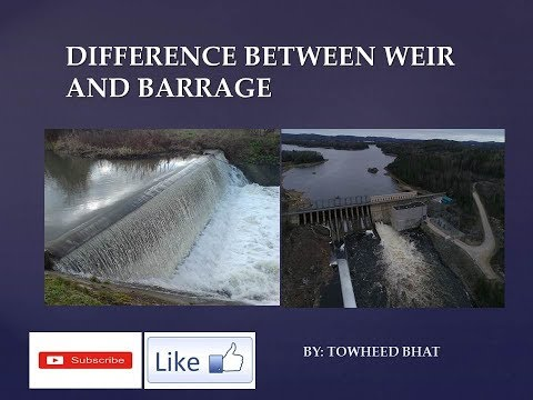 Difference between Weir and Barrage (In Hindi)