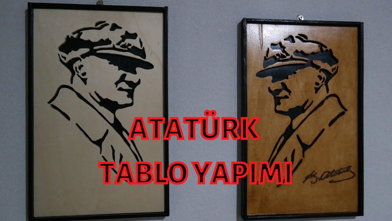Kıl Testere Tekniği İle Atatürk Tablosu Yapımı