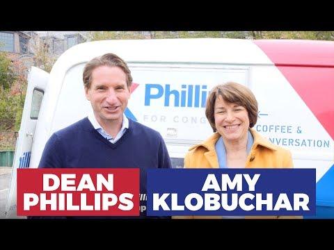 Sen. Amy Klobuchar — Constituents in Trucks Getting Coffee — Dean Phillips for Congress