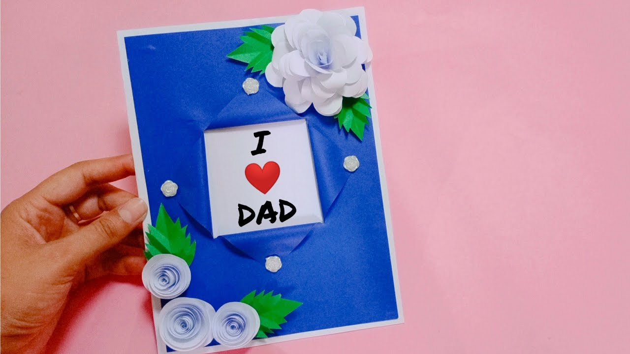 beautiful handmade father's day card idea  easy fathers