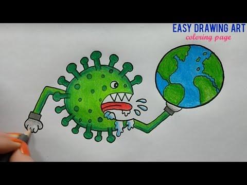 Corona Virus Drawing How To Draw Save Earth From Corona Virus Poster Youtube