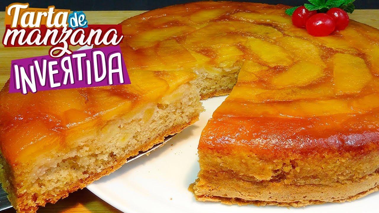 Tarta de manzana invertida o bizcocho de manzana al caramelo - Recetas paso a paso - Loli Dominguez