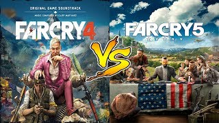 FAR CRY 4  vs  FAR CRY 5  Gameplay Comparison