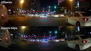 Alfawise MB05 F1.4 vs Xiaomi Mijia 1080P Car DVR Review Camera Test