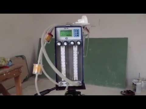 Отбор пробы воздуха для химического анализа в помещении.