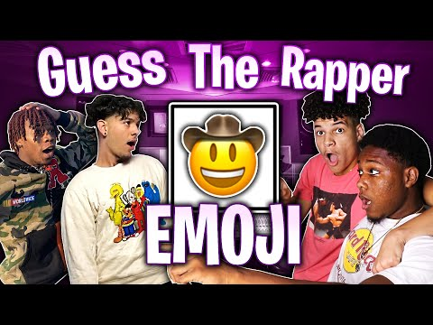 GUESS THE RAPPER FROM THE EMOJI  ITS SO CONFUSING