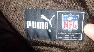 CLEVELAND BROWNS 1999 RETAIL AUTHENTIC PUMA HOME FOOTBALL JERSEY