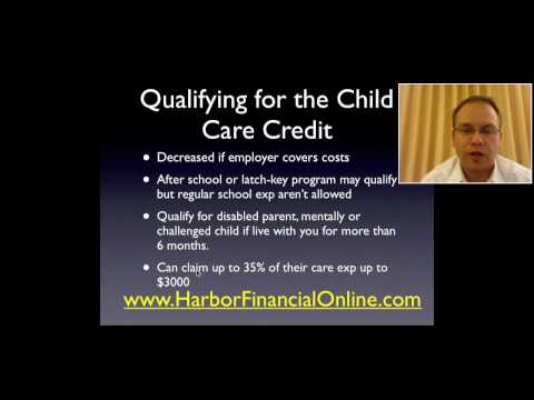 Child Care Tax Credit Dependent Care Credit