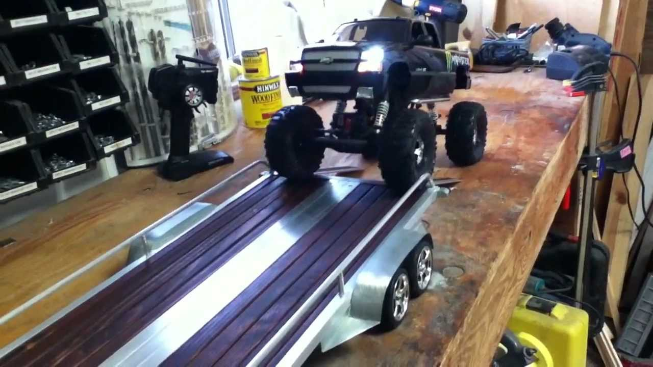 rc scale truck with trailer