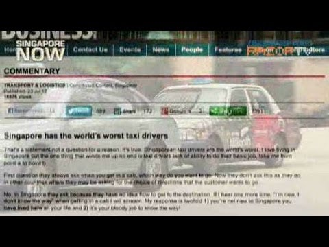 Singapore has world's worst cabbies?